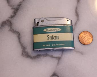 Vintage Penguin Salem Cigarette Lighter Menthol Fresh Vintage Advertising
