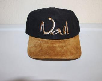 Vintage 90's Vail Ski Resort Velcro Dad Hat