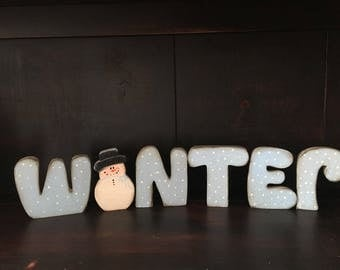 Winter letter spelled out.