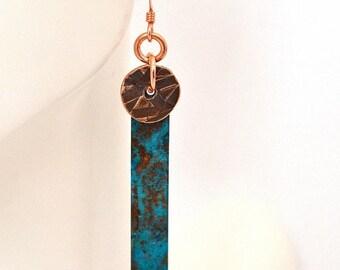 XMASINJULY Turquoise Earrings - Copper Earrings - Patina Earrings - Boho Earrings - long earrings - verdigris earrings - turquoise jewelry j