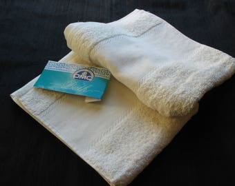 Terry unbleached 100% cotton DMC embroidery Towel holder