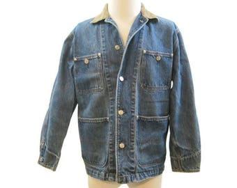 Vintage Ralph Lauren Denim Chore Jacket Dungarees Jean Jacket Ranch Barn M