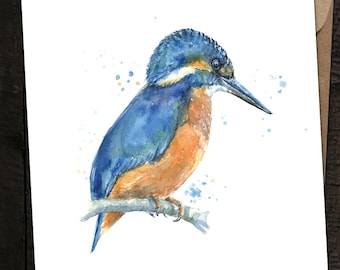 Kingfisher Card, Kingfisher Birthday Card, Kingfisher,