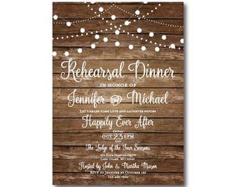 Rehearsal Dinner Invitation, Rustic Rehearsal Invitation, Rustic Wedding Rehearsal Invitation, Rustic Rehearsal Dinner Invite #CL101