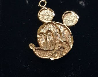 Mickey Mouse© 14K Gold Pendant