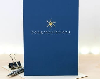 Congratulations Card; Gold Foiled Well Done Card; Congrats; GC650