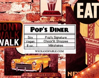 Pop's Diner - Riverdale Inspired Scented Soy Candle