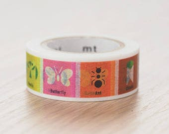 Insects washi tape | MT Masking Tape Summer Collection 2017 MT for Kids washi tape (MT01KID030)