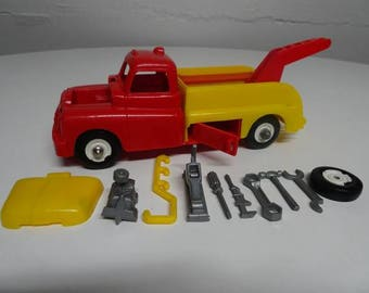 Vintage Marx Fix-All Wrecker Truck With Tools and Equipment  FREE SHIPPING