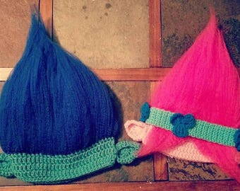 Trolls-Inspired Crochet Hats