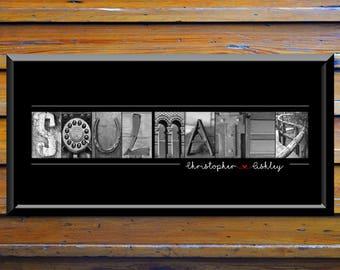 Soul Mate Gift, Soul Mates Gift, Soulmate Gift Ideas, 1st Anniversary Gift, 15th Anniversary Gift Ideas, 25th Anniversary Gift For Wife