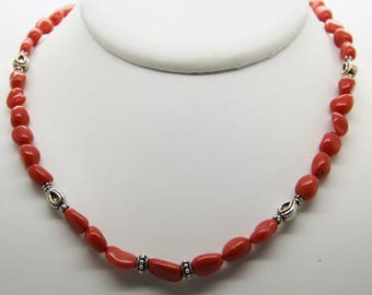 Red coral necklace Corsica certifiė genuine 1st choice