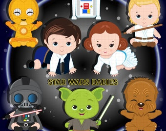 Star Wars Babies Digital clipart