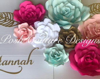 Giant Rose Backdrop/ Wedding Backdrop/ Bridal Shower Backdrop/ Baby Shower Backdrop/ Quinceañera Backdrop/ Nursery Flower Backdrop/ Sweet 16