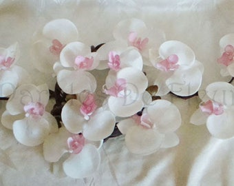 Pink artificial customize powder/white orchids centerpiece