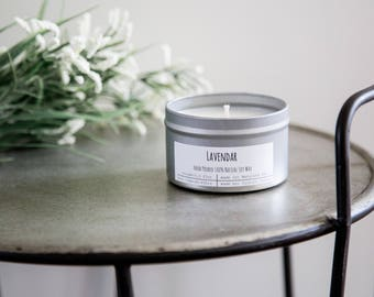 Lavendar Hand-Poured Soy Candle - By Cylburn Candles