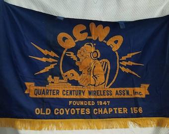 Vintage BANNER QCWA
