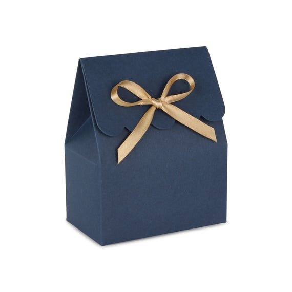 wedding favors navy favor boxes boxes and bags navy blue and gold