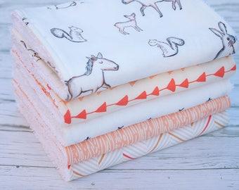Baby Burp Cloths Set of 5, Baby Gift, Baby Shower, Newborn Burp Cloths, Baby Burpcloths, Woodland Burpcloths, Unicorn Burp Cloths