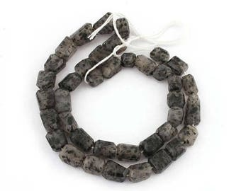 Valentines Day 1 Strand Black Rutile Faceted  Center Drill Briolettes - Tourmilated Quartz Nugget Beads 9mmx8mm-19mmx8mm 16 inches long SB22