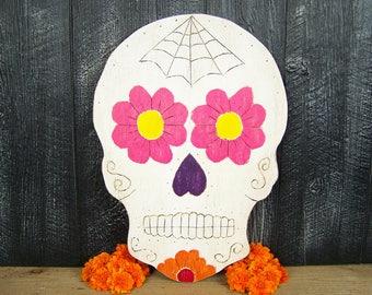 Mexican Sugar Skull Decor Halloween Decor Calavera Decor Halloween Decoration Skull Design Mexican Decor Day Of The Dead Dia De Los Muertos