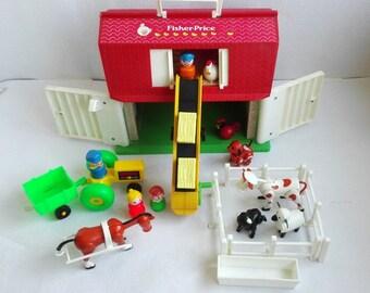 Vintage Fisher Price Play Family  Farm # 910. Europa. 1980's, Fisher Price Farm 910