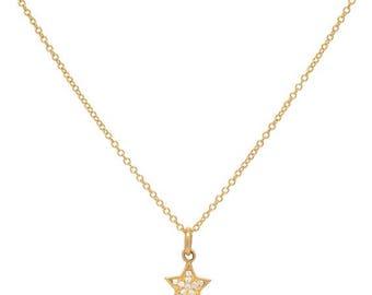 ON SALE Diamond star necklace