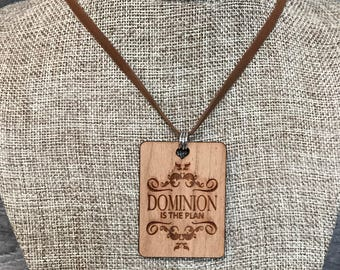 Dominion Necklace, Laser Engraved, Group Gift Ideas, Group Discounts, Wedding Gifts, Laser Engraved, Bursting Barns Designs