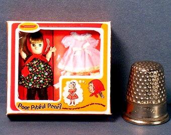 Poor Pitiful Pearl Doll Box -  Dollhouse Miniature  1:12 scale - Dollhouse accessory - 1960s Dollhouse girl toy - Miniature Doll Box Replica