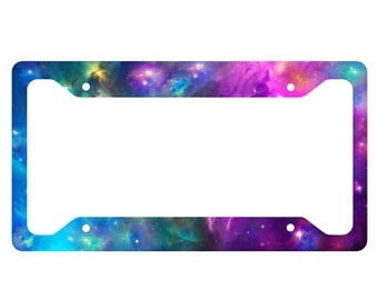 Space Galaxy License Plate Frame
