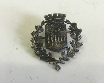 Nemours brooch in vintage silver ! French town !pretty brooch