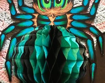 Vintage Halloween Honeycomb Spider