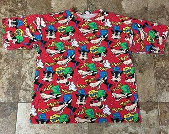 Vtg 90s BIG BAD WOLF Disney All Over XLarge Shirt
