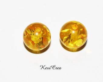 10 x acrylic amber glittery round beads