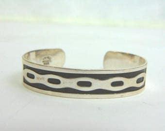 Estate Sterling Silver Cuff Bracelet 27.0g E3489
