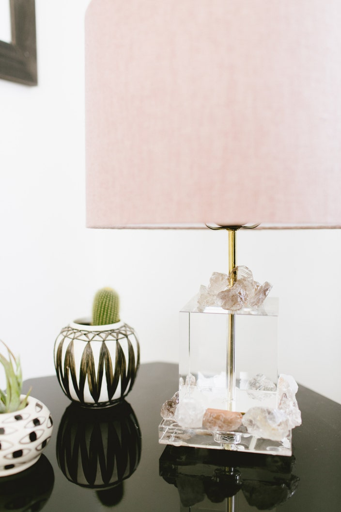 Add Your Lampshade, Screw In A Bulb And Turn Your Lamp On To See Those  Crystals Shine Bright.