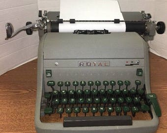 1950s Royal Typewriter 4274 Touch Control With Green Keys