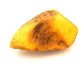 Amber Baltic Antique Loose Stone Natural Genuine 10.58 Gr Egg Yolk Old Color