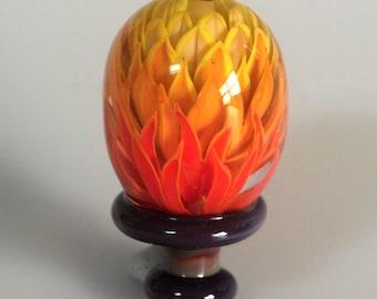 FIRE - Lampwork focal lentil bead