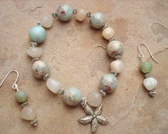 Seaside and serenity bracelet and earring set