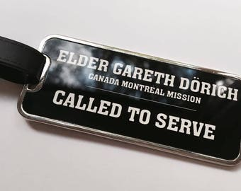 Mission Personalised Luggage Tags (LDS, Mormon, Missionary, MTC)