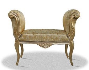 Baroque banquet stool Chair antique style NkSo0319GoGoFl