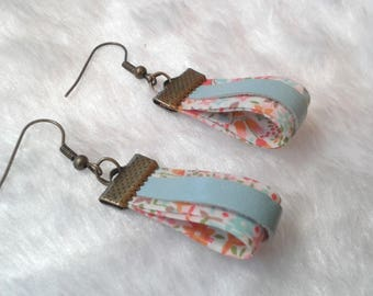 Earrings Liberty & pastel multi color leather