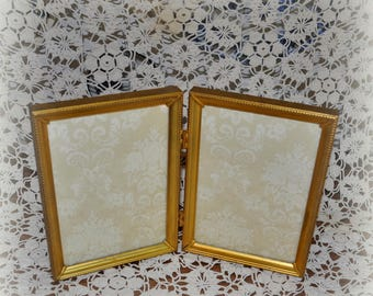 Vintage Gold Double Picture Frame, 5 x 7 in. Double Picture Frame