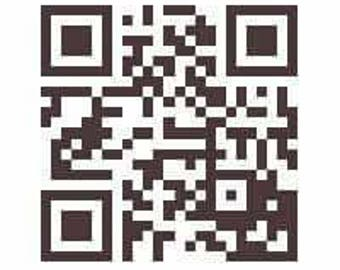 Personalized QR Code vinyl decal- color will vary upon request
