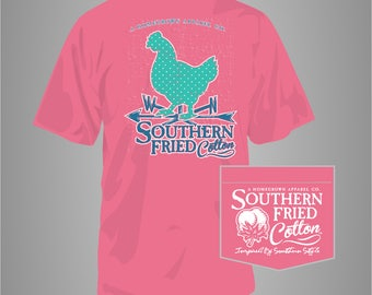 Weather Hen - Adult Pocket T-Shirt - Southern Fried Cotton