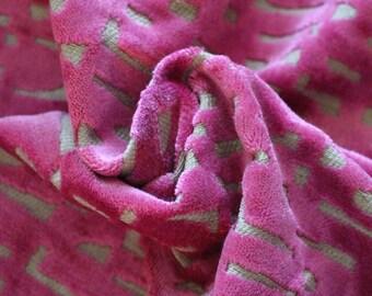 Designers Guild Pink Cut Velvet  Upholstery Fabric, From Jane Hall Design