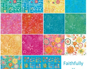 Faithfully Yours Fabric Precuts By Barb Tourtillotte 10 Inch Squares 42 Ten Inch Square Pieces By Clothworks Fabric