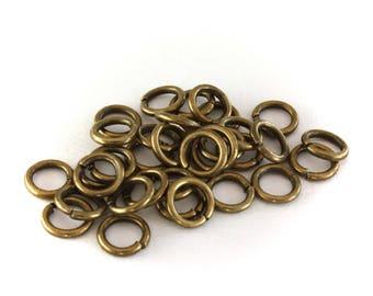 20 jump rings jump bronze 7 mm