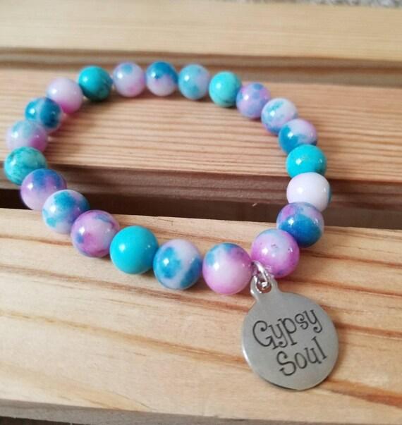 Gypsy Soul: Reiki Attuned Cotton Candy Jade Healing Bracelet